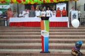 Llama olímpica de juegos nacionales pasó ayer por Yopal
