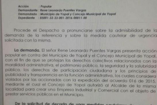 Juez suspendió acuerdo que autorizaba crear polémica EICE Ceiba de Yopal