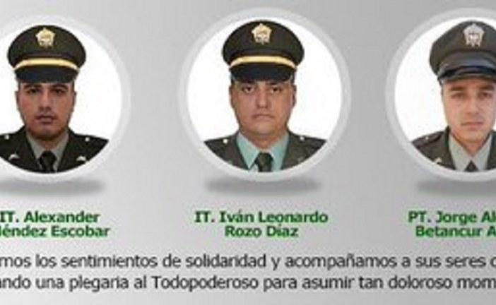 Policía Nacional rechaza ataque muerte de tres policías en Aguazul, Casanare.