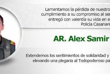 Falleció otro uniformado producto de atentado a patrulla policial en Aguazul.