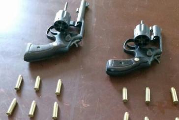 Capturados dos hombres con armas ilegales
