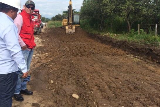 Avance del 40% registra pavimentación de la vía Matepantano – El Venado.