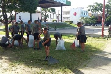 Ejército Nacional recogió escombros del parque El Resurgimiento