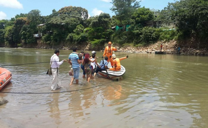 AUDIOS | Paso en balsas por ahora y puentes militares en 25 días para paso sobre el río Charte