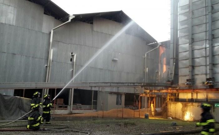 Solo hasta en la tarde logró extinguirse el incendio en molino Arroz Diana