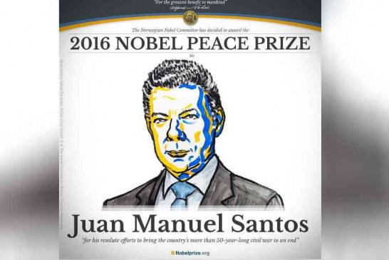 Presidente Santos obtiene premio Nobel de Paz