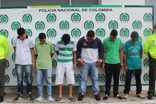 Capturadas seis personas dedicadas al expendio de alucinógenos en Yopal