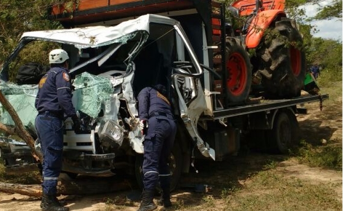 Dos personas lesionadas en accidente de tránsito en la vía Aguazul- Maní