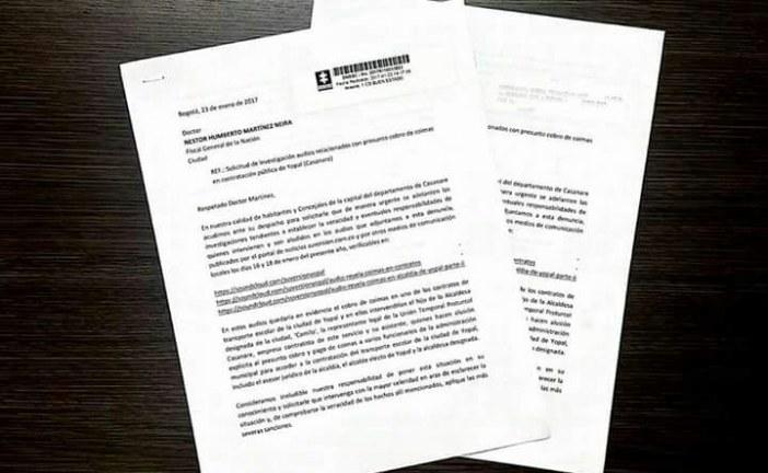 Concejales pidieron a fiscal investigar audios sobre cobro de coimas en alcaldía.