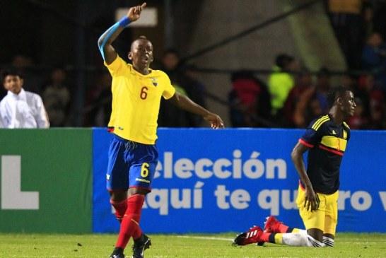 Colombia cae ante Ecuador y complica su clasificación en el Sudamericano Sub-20