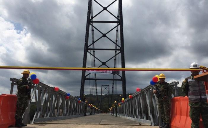 Entra en funcionamiento segundo puente provisional en El Charte.