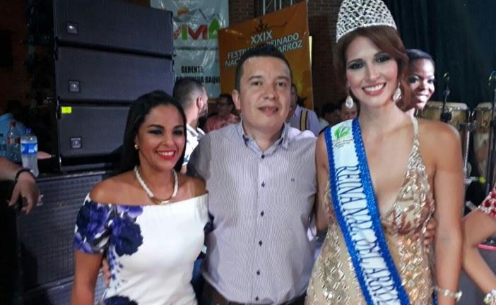 Señorita César Maria Alejadra Chacon es la nueva Reina Nacional del Arroz