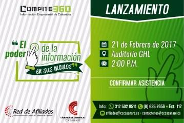 La Cámara de Comercio de Casanare realiza hoy la presentación de Compite 360