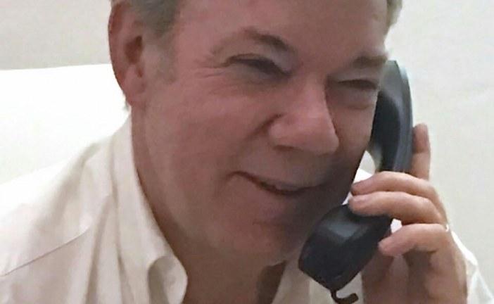 Presidente Santos habló telefónicamente con Donald Trump