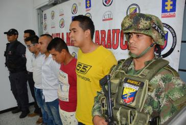 Ejército reportó la captura de cuatro sujetos al parecer pertenecientes a grupos al margen de la ley