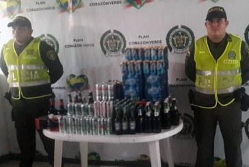 328 botellas de licor al parecer adulterado incautó la Policía en el Meta