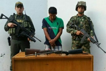 Autoridades capturaron a un hombre por porte ilegal de armas de fuego en Hato Corozal