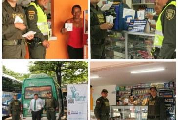 El Gaula de la Policía continúa realizando campañas para prevenir la extorsión en Casanare