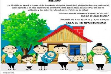 Jornada de Afiliación a EPS adelantarán hoy martes en los barrios El Raudal y Las Américas.