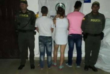 Policía capturó en Yopal a tres personas, entre ellas una mujer por el delito de hurto