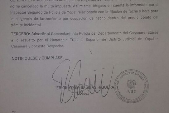 Secretario privado de alcaldía de Yopal dispuesto a pagar 3 días de detención por Luz Marina Cardozo