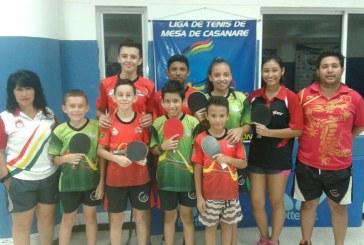 Casanareños participan en Campeonato Nacional de Tenis de Mesa