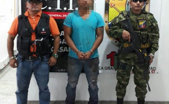 En Yopal Gaula Militar y CTI capturaron presunto extorsionista