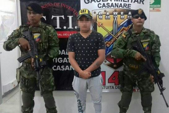 En Paz de Ariporo capturan presunto extorsionista que contactó su víctima por redes sociales