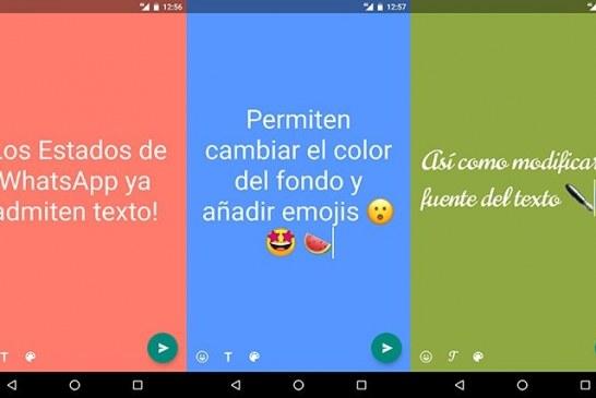 Al estilo de Facebook, ahora los estados de WhatsApp también tendrán fondos de colores.