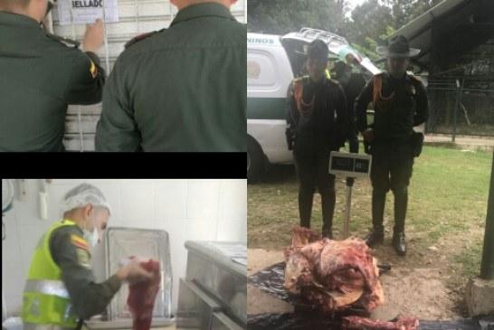 Continúan los controles a expendios de carne por parte de los Carabineros de la Policía