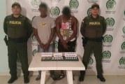 Policía capturó a dos sujetos en Villanueva por tráfico de estupefacientes