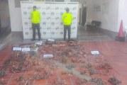 Policía Metropolitana de Villavicencio incautó 480 kilos de Cobre de propiedad industria petrolera