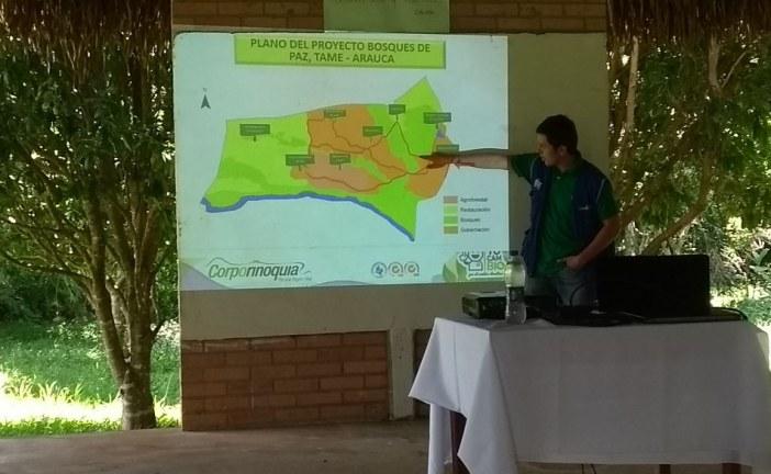 Corporinoquia y la gobernación de Arauca trabajan para diseñar el primer bosque de paz para la Orinoquia