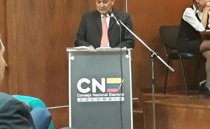 El martes de la próxima semana CNE definirá si Carlos Cárdenas sigue como candidato a la alcaldía de Yopal