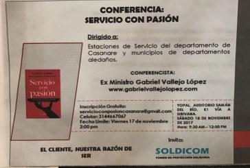 #EnAudio Este sábado gran conferencia sobre servicio con pasión, orientada por ex ministro Gabriel Vallejo