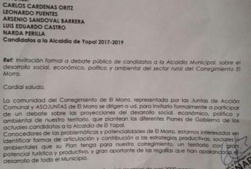 #EnAudio Debate de candidatos con comunidad de El Morro fue cancelado.