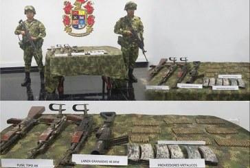 Ejército Nacional ubica depósito ilegal con material de Guerra entre Arauca y Casanare
