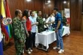 En Aguazul 79 víctimas de desplazamiento recibieron su libreta militar gratuita.
