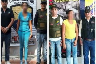 Dos personas fueron capturadas en Magdalena y Sucre por extorsión en Casanare.