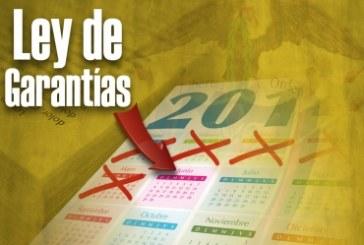 27 de enero entra en vigencia Ley de Garantías para contratos directos