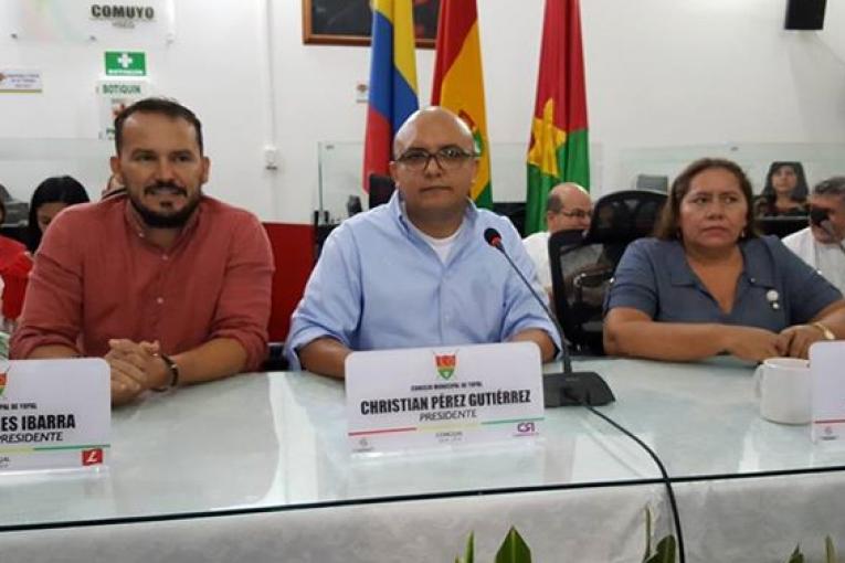 mesa directiva concejo 2018