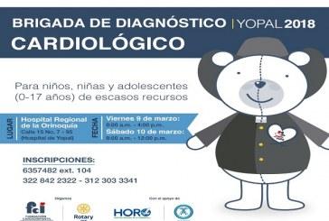 9 y 10 de Marzo Brigada de Diagnóstico Cardiológico para niños de escasos recursos en Casanare.
