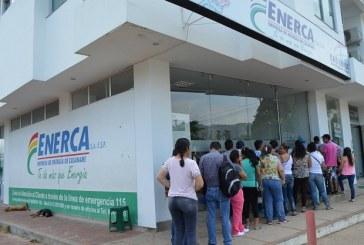 Del 19 al 23 de febrero las oficinas de atención al usuario de Enerca prestará sus servicios de manera restringida.