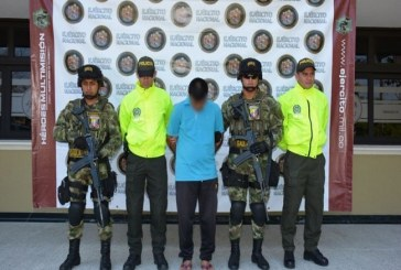 Capturado presunto cabecilla de milicias del Eln en Arauca.