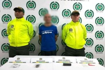 Un hombre de 60 años de edad, fue capturado con droga.