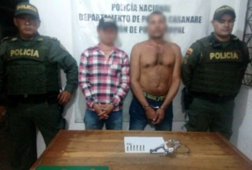 Dos sujetos armados fueron capturados ayer por la comunidad y la policía de El Morro.
