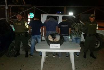 Capturadas cuatro personas que transportaban coca desde el meta presuntamente para Yopal, Casanare.