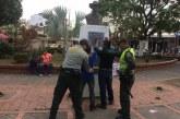 Policía de turismo realizó actividades de prevención y control al tráfico ilícito de bienes culturales en los parques deYopal.