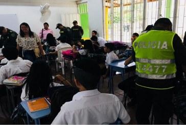Requisa Escolar y charla sobre responsabilidad penal de adolescentes hicieron a estudiantes del colegio Antonio Nariño de El Morro.