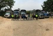 Cinco capturados transportando 75 semovientes de contrabando.